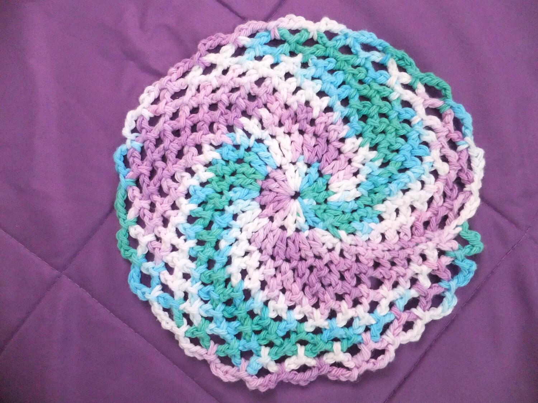 Twirly Girl Dishcloth Crochet Pattern
