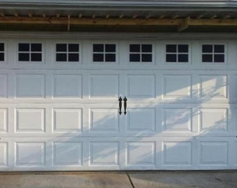 Garage Door Hinges and Handles Vinyl Decals - Garage Vinyl Decals - Faux Carriage Door Decals Outdoor Garage Door Vinyl Hinges and Handles