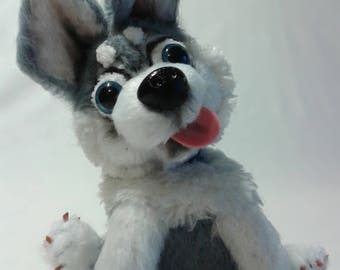 Puppy Husky, dog, soft toy