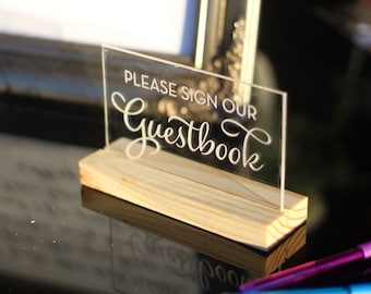 Custom Guestbook Sign / Acrylic / plexiglass / gold / wedding / event