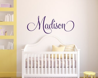 Personalized Childrens Wall Decal   Girls Name Wall Decal   Nursery Wall  Decal   Personalized Name