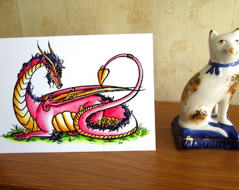 Mother Dragon - Easter Card - A6 - Blank