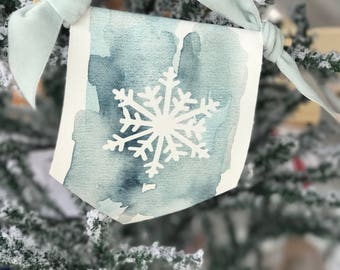 Canvas Banner Christmas Ornaments