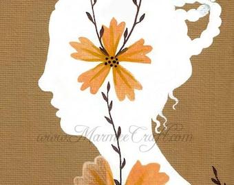 "MarmeeCraft art print- ""Pressed Flowers"""