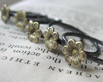Little Brass Flower Ring Single brass jewelry
