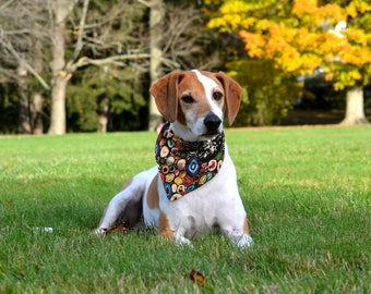 Puppy Bandana, Puppy Bandana Collar, Red Dog Bandana, Puppy Scarf, Over the Collar Dog Bandana, Dog Collar Bandana, Science Dog, Geode