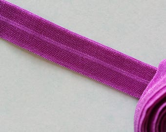Purple elastic Ribbon
