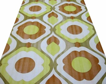 1960s Sunny Days GEOMETRIC ORIGINAL VINTAGE Wallpaper 1970s Vinyl Wallpaper