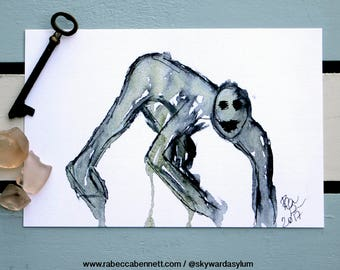 Ghoul 4x6 signed Art print