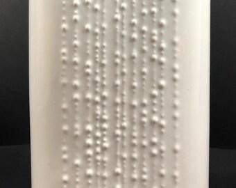 Mid Century Modern Modernist Minimalist White Naamen Israel Artline White Porcelain Vase Op Art