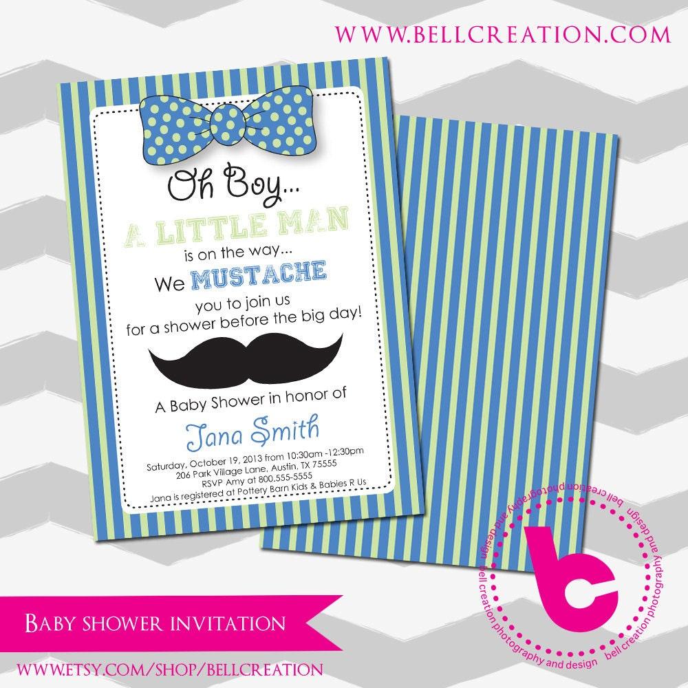 Mustache baby shower invitation template zoom stopboris Choice Image