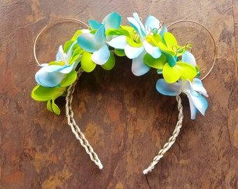 Disney Inspired Headband- Moana/Hibiscus Flower