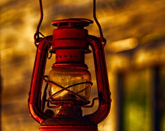Still Life Photography - Your Word is a Lamp - red vintage lantern - christian scripture photo art