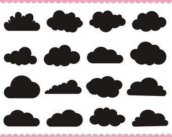 Clouds SVG, Cloud Clipart, Clouds Clip Art, Clouds Silhouette Clipart, Digital Clouds,  SVG Files, png eps