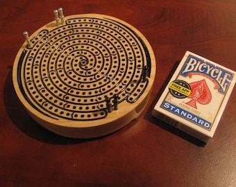 Spiral Travel Cribbage Board