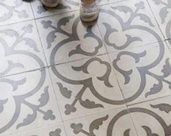 Scandi Tile stencil, Floor stencil, Moroccan Stencil for Table, Geometric stencil for DIY project and Scandinavian stencil - Wall stencil