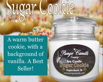 Sugar Cookie Scented Soy Jar Candle (16 oz.)