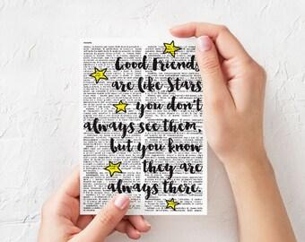 Good friends card-friendship cards-best friend card-handmade card-funny card-quote card-blank card-birthday card-sale-love card-NPGC091
