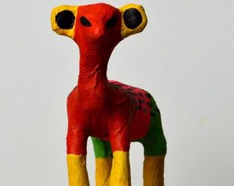 Dumpty! Papier Mache Goat Sculpture Multicolour