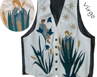 Silk Waistcoat or Vest with an appliquéd and embroidered front. For special occasions and a lifetime's enjoyment. As unique as you are.
