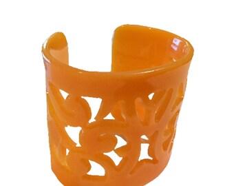Orange Paisley Cuff