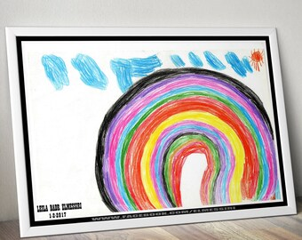Rainbow 2017 - Painted by My daughter Leila - any size less than 73X99 cm
