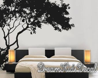 Beautiful Wall Decal Nursery Wall Decals Corner Top Tree Branch Large Corner Tree  Decals Wall Decor With Birds Decal  DK286