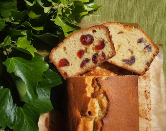 Cherry and Almond Loaf Cake