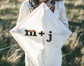Personalized Kite Photo Prop for Engagement Pictures