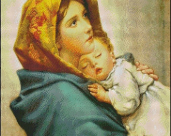 MADONNA Of THE STREETS Color cross stitch pattern No.502