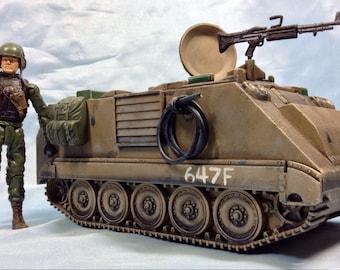 custom tan Elite Force M-113 & driver