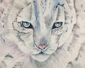 Watercolor original - White Tiger