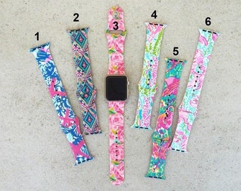 Lilly Inspired Apple Watch Bands with Monogram/ Name/ Initial
