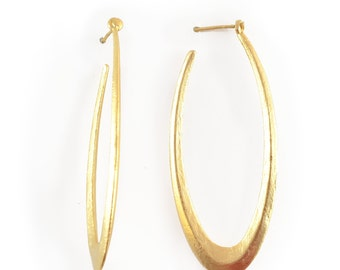 Gold Hoop Earrings, large gold earrings, gold statement earrings, statement hoop earrings, golden hoop earrings, dangle earrings