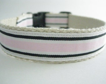 Hemp dog collar - Pretty In Pink