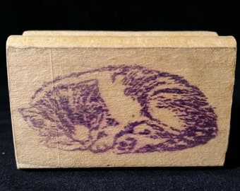 Sleeping Kitty Used Rubber stamp View all Photos
