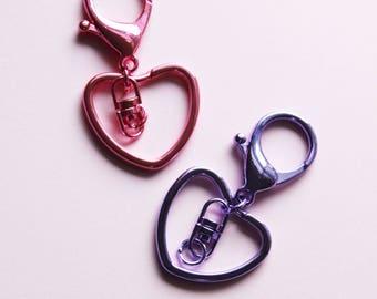 Heart Shaped Colorful Keychain & Keyring Combo