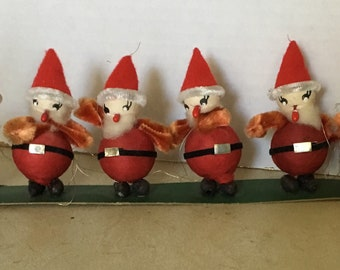 very vintage Santa Claus ornaments mint