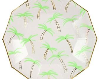 Palm Tree Plate Etsy