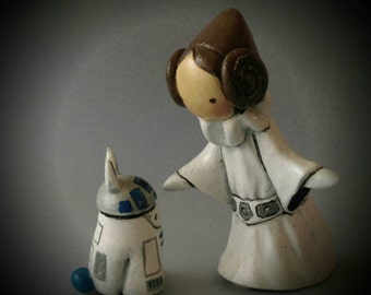 Princess Leia Poppet and R2D2 Bibbit  Very Limited Edition 19/50