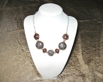 Mixed Metal Necklace - Copper and Pewter