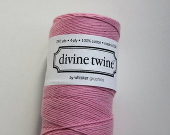 Twine de Baker's - Solid Light Rose Divine Twine - 20 yards