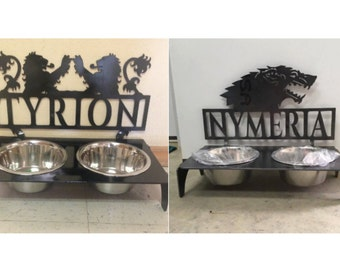 Game of Thrones Custom Dog Bowl (UNPAINTED) ((With your pets name))