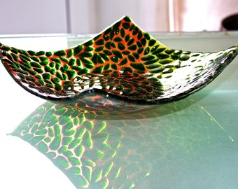 Fused Glass Plate Glass Dish Glass Art