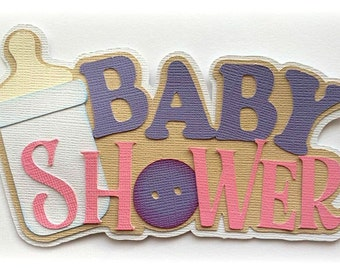 baby shower  title boy or girl colors  premade paper piecing 3d die cut by my tear bears kira