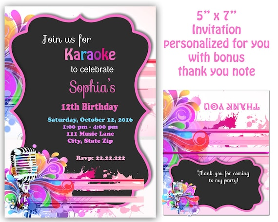 Karaoke invitation karaoke party invitation karaoke stopboris Choice Image