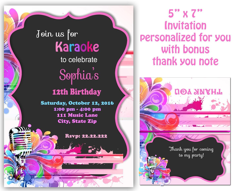 Karaoke invitation karaoke party invitation karaoke zoom monicamarmolfo Image collections