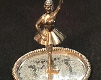 Vintage Ballerina Ring Dish