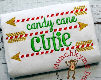 Candy Cane Cutie Arrow Design