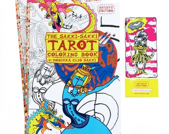 DUO Sakki-Sakki Tarot Coloring Book: Artist's Edition